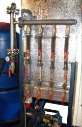 Эжектор из нержавеющей стали и ротаметры БКП, встроенного в оборудование заказчика