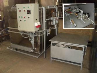 Рис. 4: МФЗС-2000-ратд<br/> Модернизированная конструкция с выносной насосной платформой, дублированной нагнетающей линией, приемной емкостью с проточным подогревом профильтрованного масла. (Cпецзаказ)