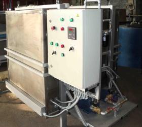 Рис. 5: МФЗС-2000-ратвд<br/> Модернизированная конструкция для фильтрации, проточного подогрева профильтрованного дизельного топлива, оснащенная дублированной нагнетающей линией и комплектом автоматики для автономной работы установки. (Выполнена по спецзаказу)