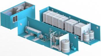 Установка для очистки углеводородов от воды и мехпримесей. Встроенная емкость подогрева и гомогенизации, емкости для готового продукта, сепаратор для тонкой очистки