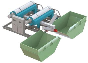 МЦ для отделения мехпримесей из жидкости. Исполнение для помещения с дублированием системы и возможностью раздачи кека на разные емкости